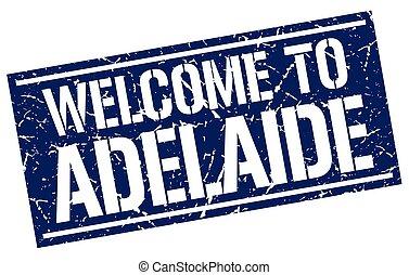 歓迎, へ, アデレード, 切手