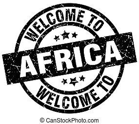 歓迎, へ, アフリカの黒, 切手