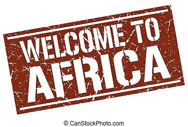 歓迎, へ, アフリカ, 切手
