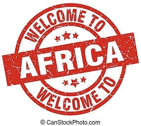 歓迎, へ, アフリカ, 赤, 切手