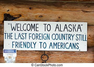 歓迎, へ, アラスカ
