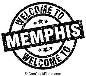 歓迎, へ, メンフィス, 黒, 切手