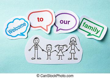 歓迎, へ, 私達の 家族