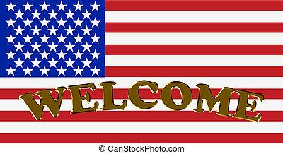 歓迎, アメリカ