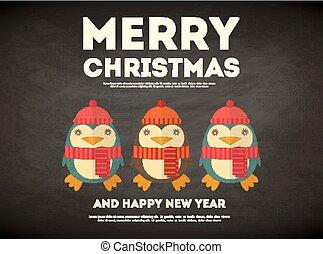 歡樂的聖誕節, 卡片, 問候