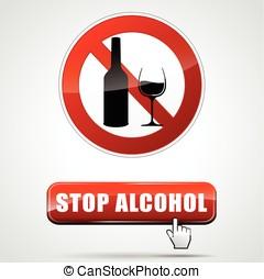 止まれ, アルコール