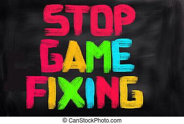 止まれ, ゲーム, 固定, 概念