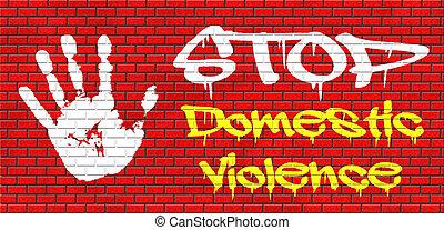 止まれ, 家庭内暴力
