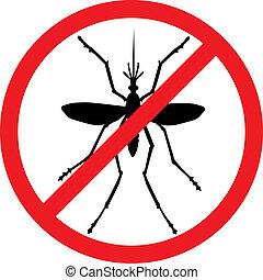 止まれ, 蚊