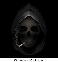 止まれ, smoking.