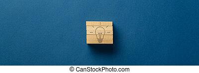 止め釘, 組み立てられた, 電球, 形, ライト, 木製である