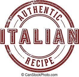 正しい, レシピ, イタリア語