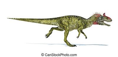正しい, 切り抜き, 科学的に, representation., cryolophosaurus, 低下,...