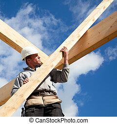 正しい, 労働者, 建設