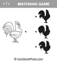 正しい, 教育, shadow., ファインド, ゲーム, 漫画, 子供, rooster.