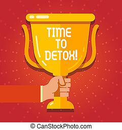 正文, 簽署, 顯示, 時間, 到, detox., 概念性, 相片, 片刻, 為, 飲食, 營養, 健康, 癮, 治療, cleanse.