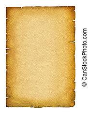 正文, 纸, 古董老, 背景, 卷, texture., 白色