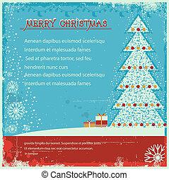 正文, 老, 背景, 聖誕節, 海報, 葡萄酒