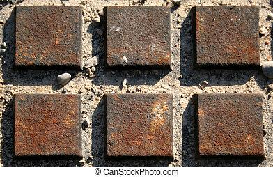 正方形, さびた