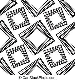 正方形, パターン, ベクトル, seamless, イラスト