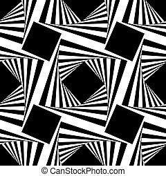 正方形, 圖案, 矢量, seamless, 插圖
