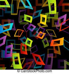正方形, 背景, カラフルである