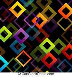 正方形, 背景, 鮮艷