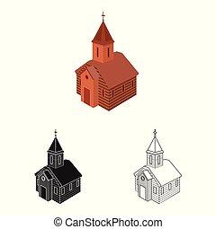 正統, シンボル, オブジェクト, web., 隔離された, コレクション, シンボル。, 教会, チャペル, 株