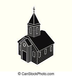 正統, シンボル, web., コレクション, ベクトル, イラスト, 教会, チャペル, logo., 株
