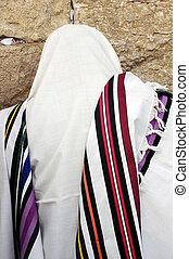 正統, ユダヤ人, 人, 祈る, ∥において∥, ∥, 西部の 壁, 中に, エルサレム, イスラエル