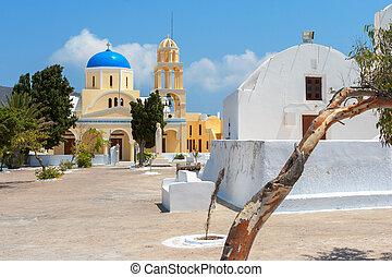 正統, church., oia, santorini, ギリシャ
