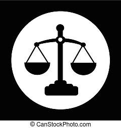 正義, アイコン, デザイン, イラスト, スケール