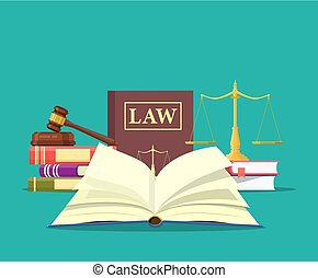 正義, アイコン, 法律, セット