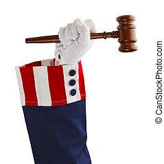 正義, アメリカ人