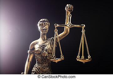 正義, クローズアップ, 像