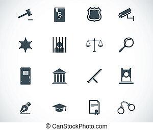 正義, セット, 黒, ベクトル, アイコン