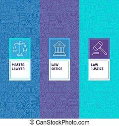 正義, パターン, 線, 法律, セット