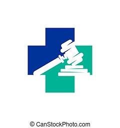 正義, 健康, ベクトル, デザイン, 隔離された, 会社, 法律, ロゴ, テンプレート