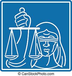正義, 女性, blindfolded, 保有物, スケール