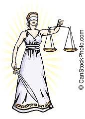 正義, -, 女神, themis