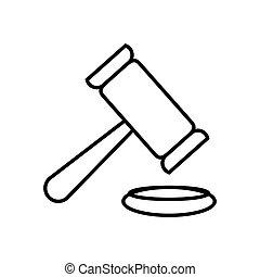 正義, 小槌, ベクトル, アイコン