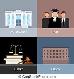 正義, 旗, セット