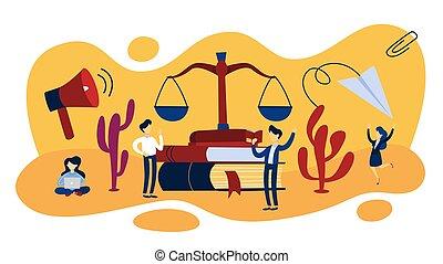 正義, 法律, 概念, イラスト, スケール