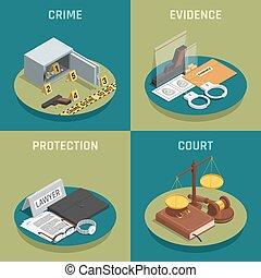 正義, 等大, 概念, 法律, アイコン
