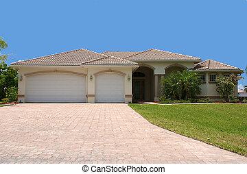 正面図, の, 一般的, フロリダ, 家