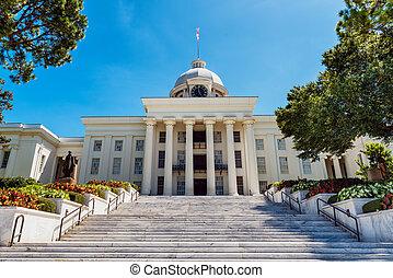 正面図, の, 州州議事堂, 中に, モンゴメリー, アラバマ