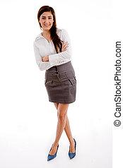正面圖, ......的, 從事工商業的女性, 矯柔造作