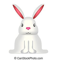 正面圖, ......的, a, 漂亮, 兔子
