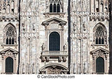 正面, ......的, the, 米蘭大教堂