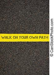 步行, 上, 你, 自己, 路徑